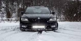 Skoda Superb 2016 2019 DSM LED ramp modellanpassat kit 2016